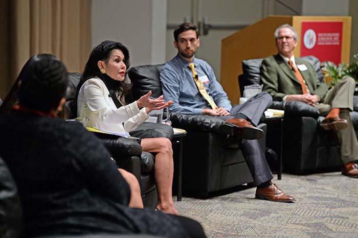 Janice Mirikitani on panel