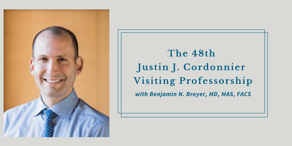Justin J. Cordonnier Visiting Professorship 2021