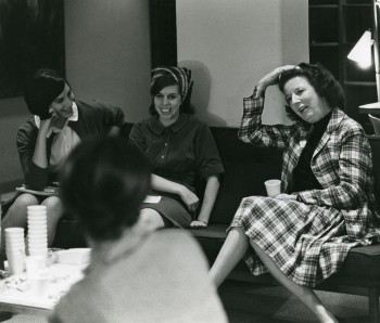 Mary Wickes meeting with theater students