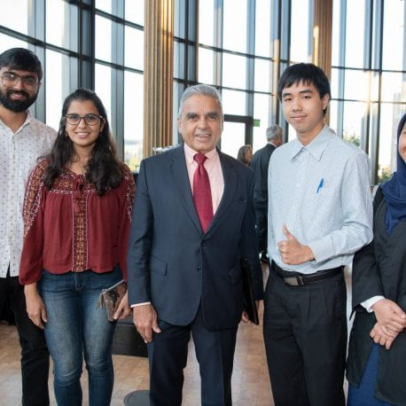 Kishore Mahbubani with students