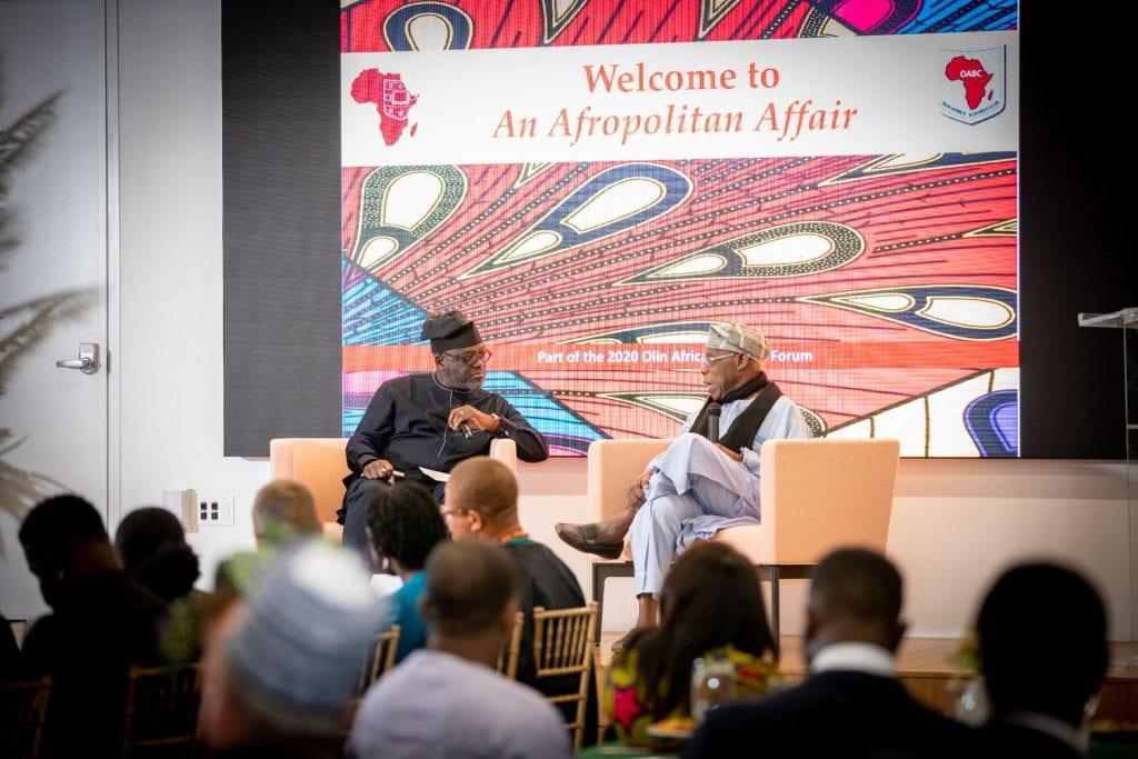 President Obasanjo and Benjamin Akande