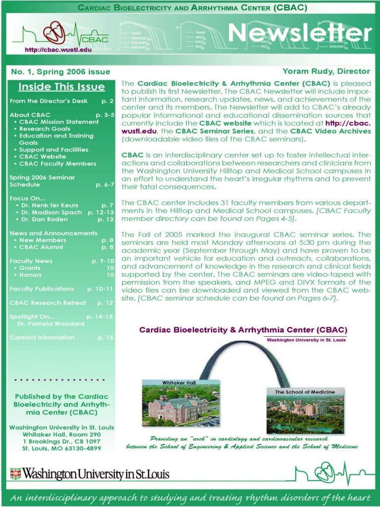 CBAC, CBAC Newsletter 2006