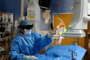 WashU-developed holograms help physicians during cardiac procedure
