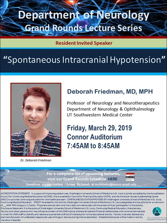 Neurology Grand Rounds: Deborah Friedman (UT Southwestern