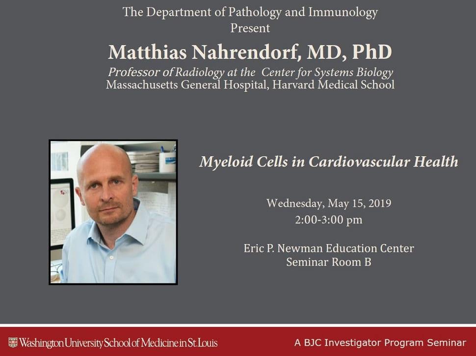 BJC Investigator Program Seminar: Matthias Nahrendorf (Harvard