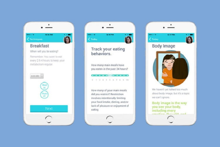 College students access eating disorders therapy via phone app