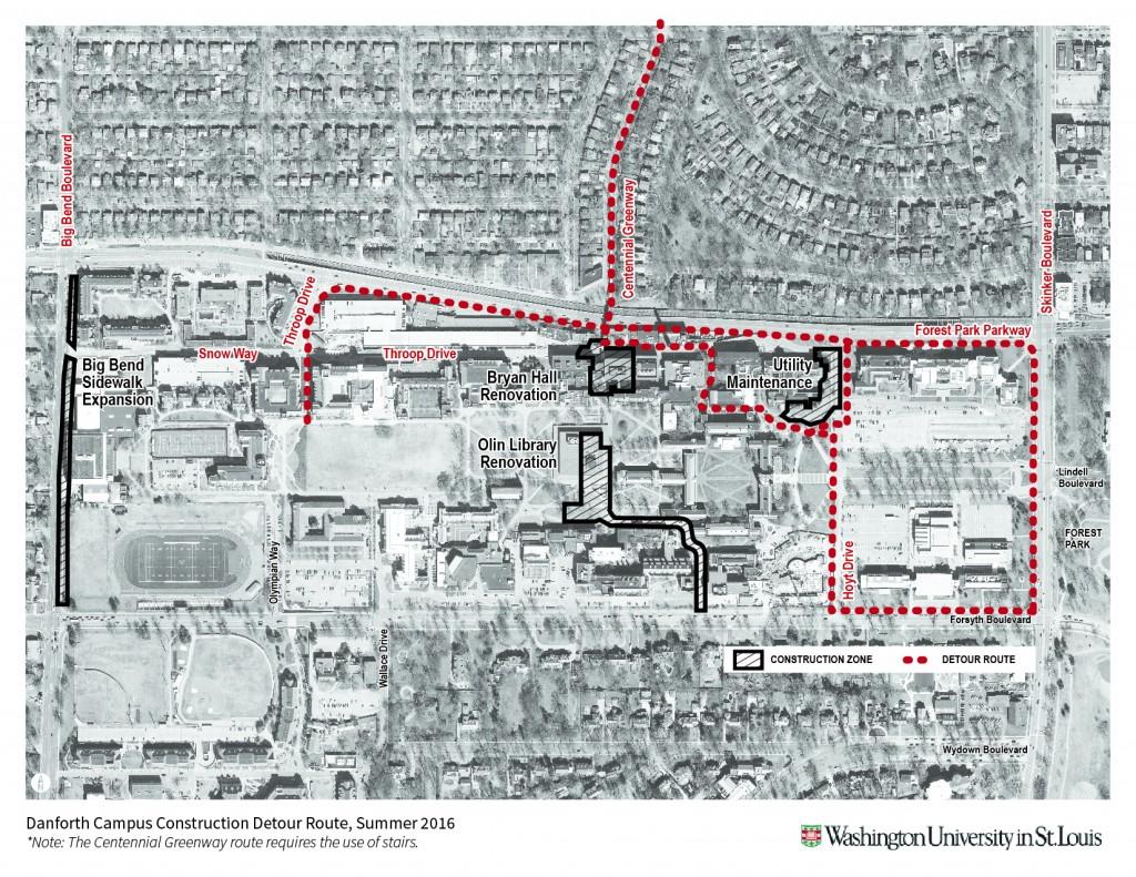 Centennial Greenway Detour Route
