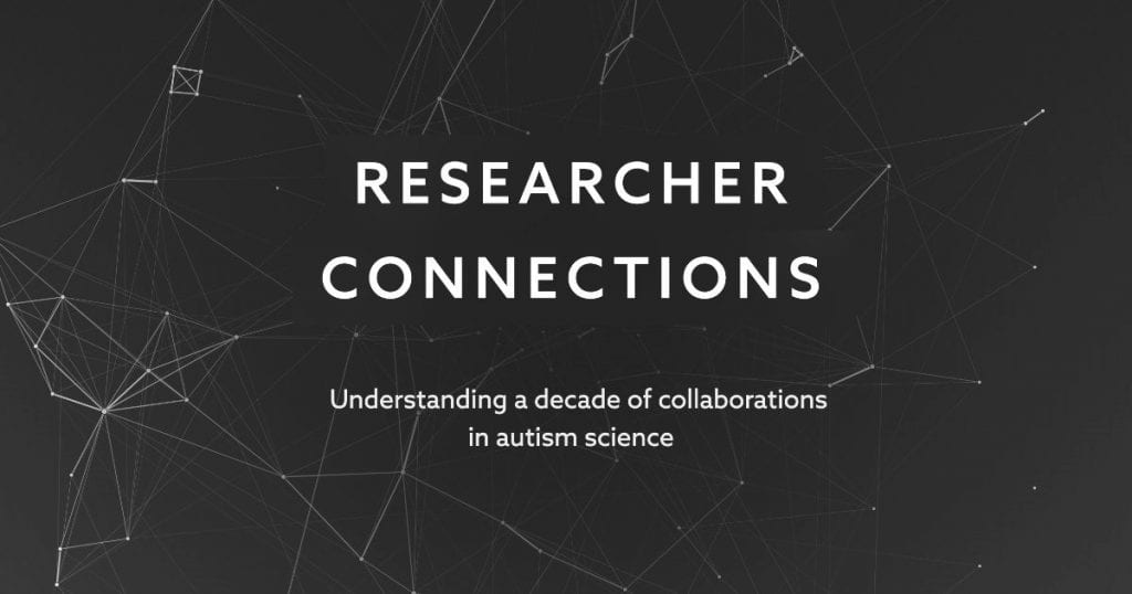 Research connection: Understanding collaborations in ASD research