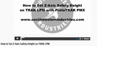 LPM How to Set Z-Axis Safety Height