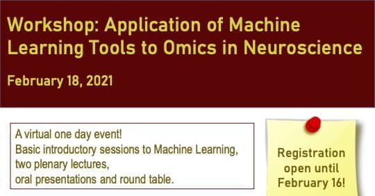 Workshop: Application of Machine Learning Tools to Omics in Neuroscience