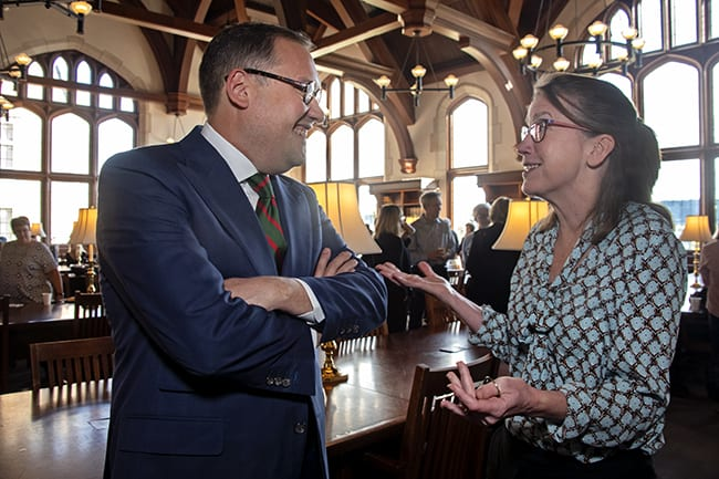 Law School hosts welcome reception