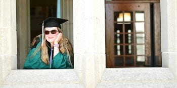 Class of 2020 reunites for delayed Commencement ceremony