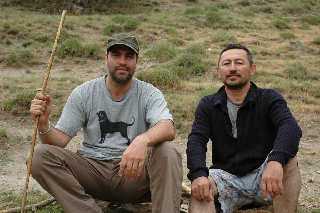 Project Co-directors, (right) Dr. Michael Frachetti of Washington University in St. Louis and Dr. Farhad Maksudov of the Institute of Archaeology, National Academy of Sciences in Uzbekistan (Photo credit: Taylor Hermes 2012).