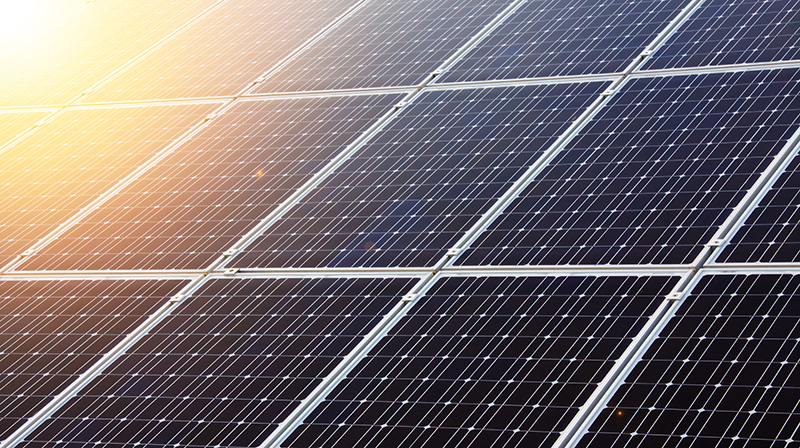 Photo of solar panels.