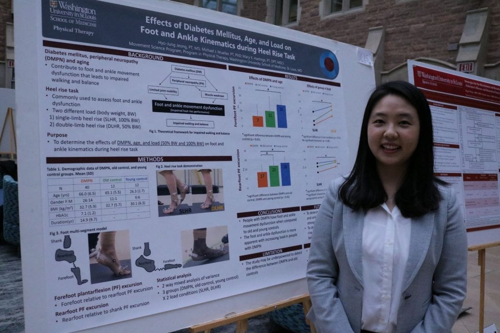 School of Medicine student Hyo-Jung Jeong poses next to their poster