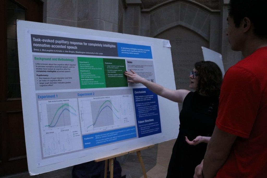Psychological & Brain Sciences student Drew McLaughlin explains their research