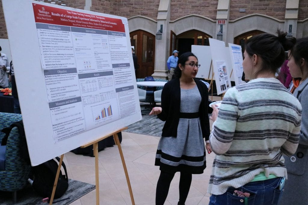 Olin Business student Brinda Gupta explains their research