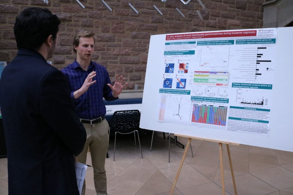 DBBS student Robert Potter explains their research