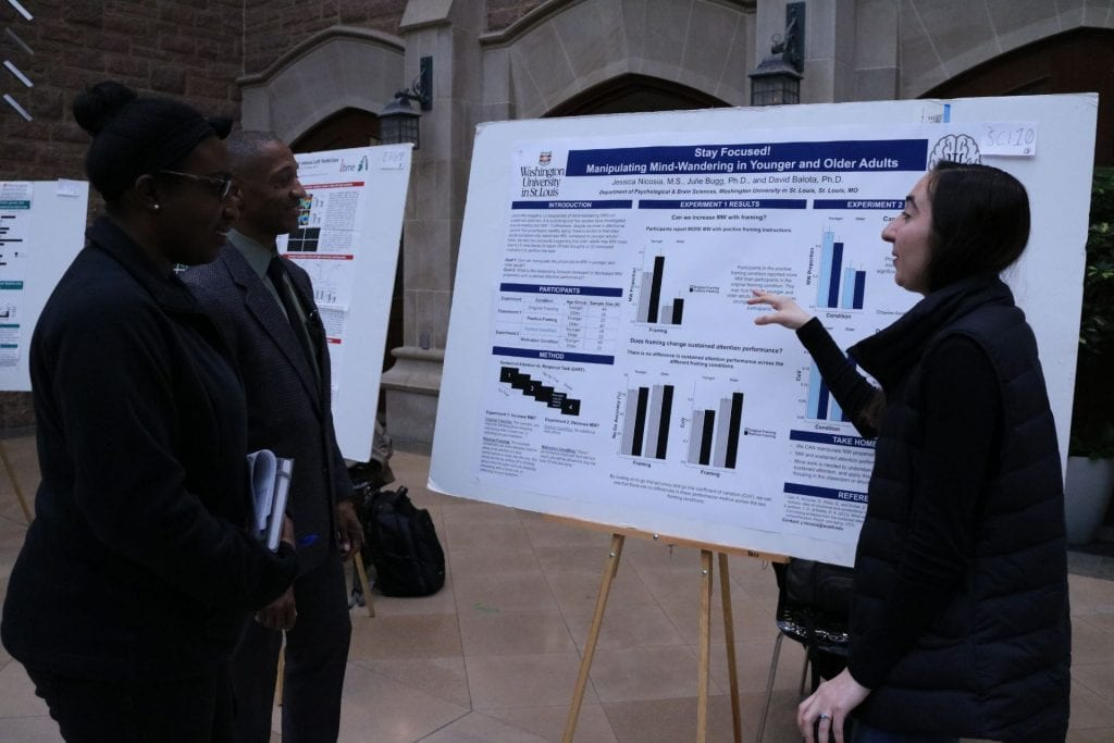 Psychological & Brain Sciences student Jessica Nicosia explains their research