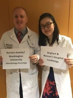 Left to Right: Zach Crees, MD & Wendy Wang, MD