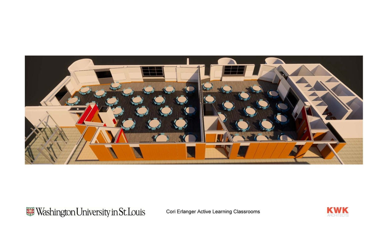 WUSM Planning & Projects: Cori and Erlanger Renovation - orthographic view