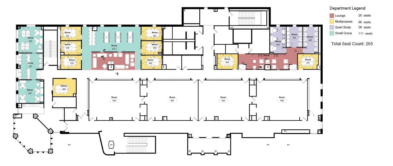 WUSM Projects & Planning: FLTC 3-5 Floor Renovations Floor Plan