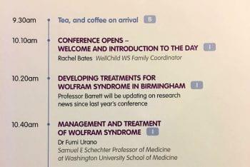 UK Wolfram syndrome conference 2016