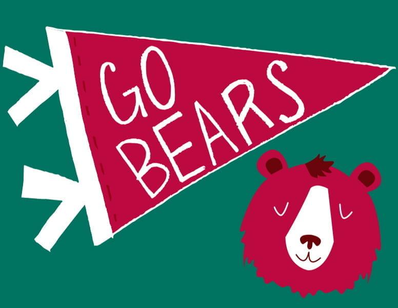 Go Bears! sign