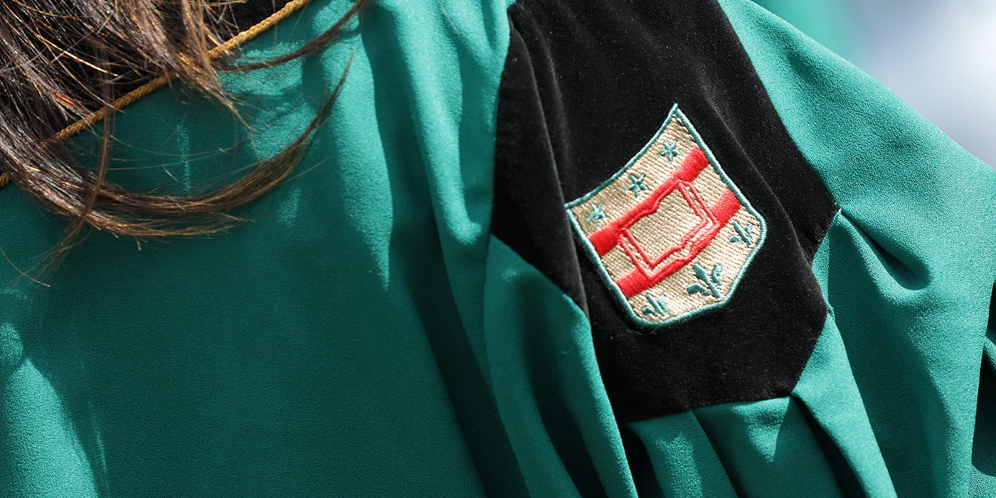 WashU Grad Gown Close Up