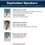September Speakers Neuro Grand Rounds