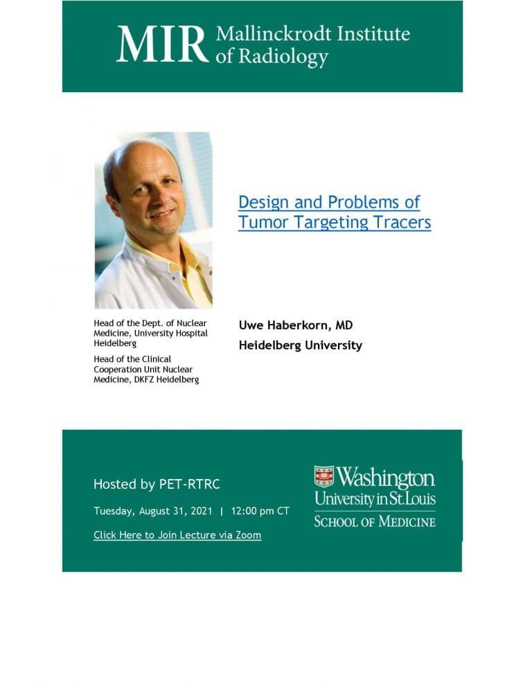 PET-RTRC Seminar Speaker   Uwe Haberkorn, MD