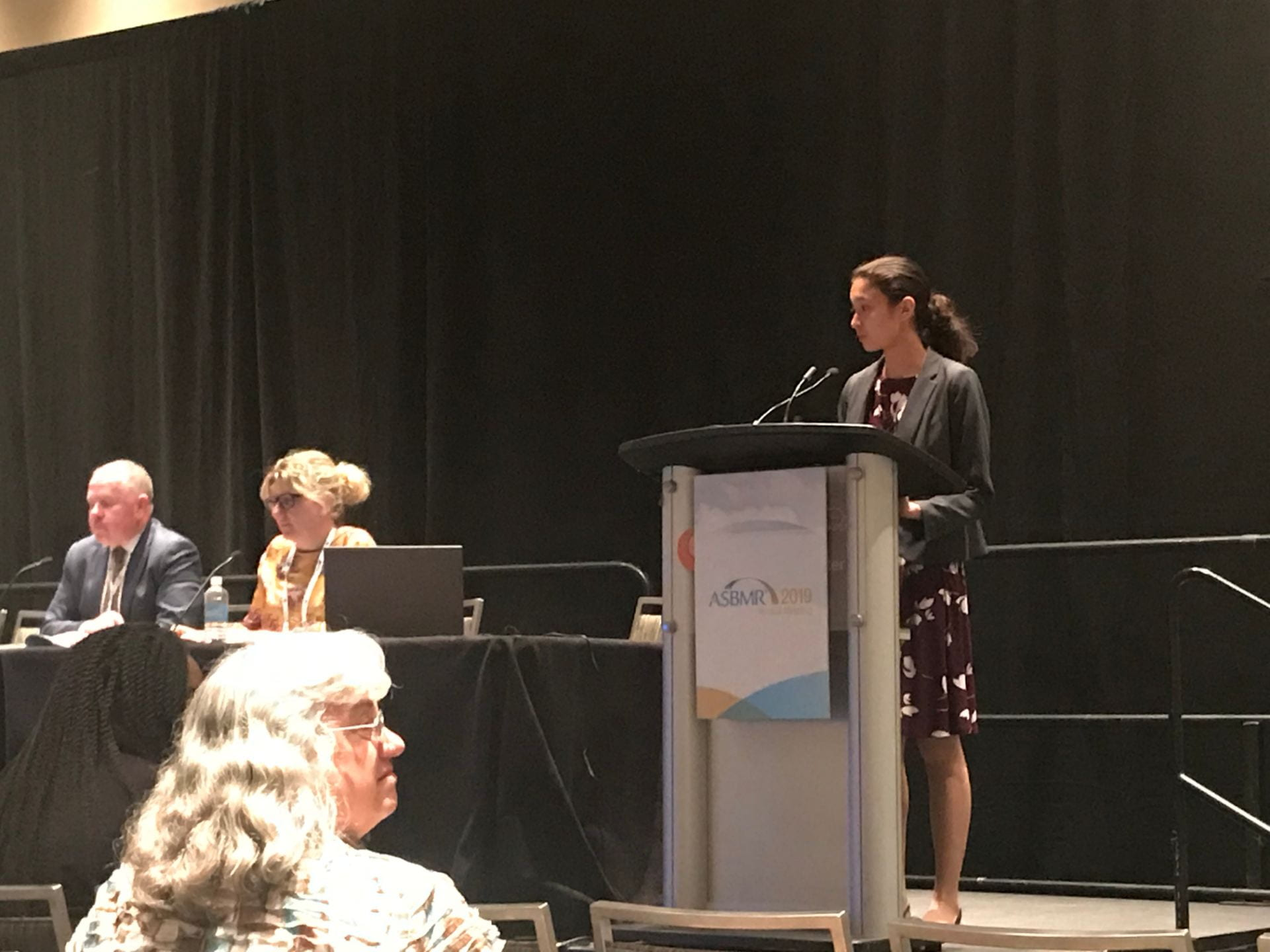 Postdoctoral fellow Dr. Natalie Wee presents at ASBMR