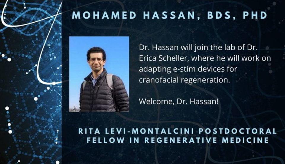 Postdoc Dr. Mohamed Hassan awarded RLM fellowship