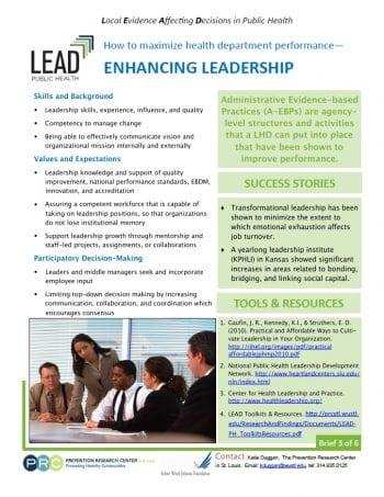 Enhancing Leadership (pdf)