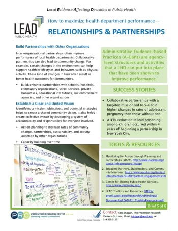 Relationships and Partnerships (pdf)