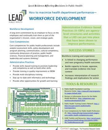 Workforce Development (pdf)