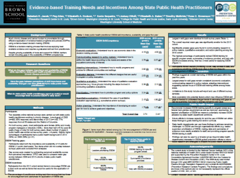 Evidence-based training needs and incentives among state public health practitioners