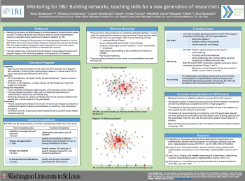 Mentoring for DI Building networks, teaching skills for a new generation of researchers Jacobs poster