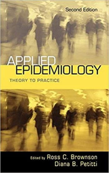 textbook cover of Applied Epidemiology: Theory to Practice
