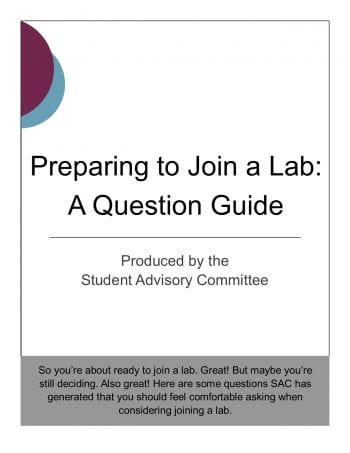 Joining a Lab – A Question Guide