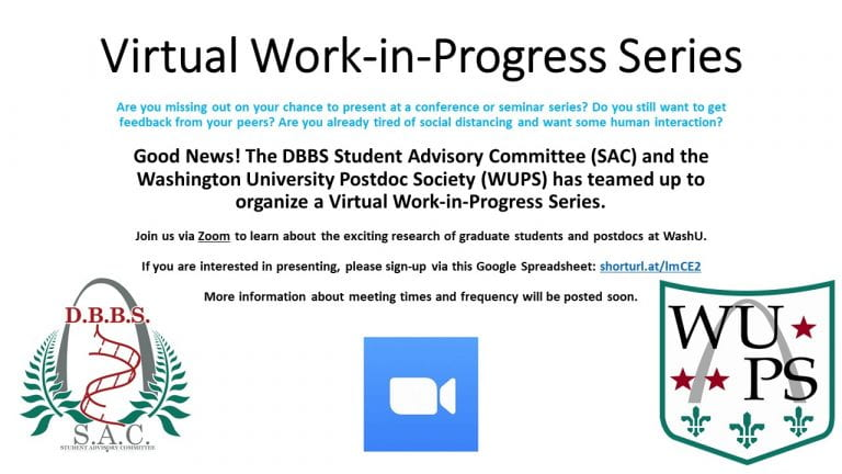 Virtual WIPs with The WashU Postdoc Society