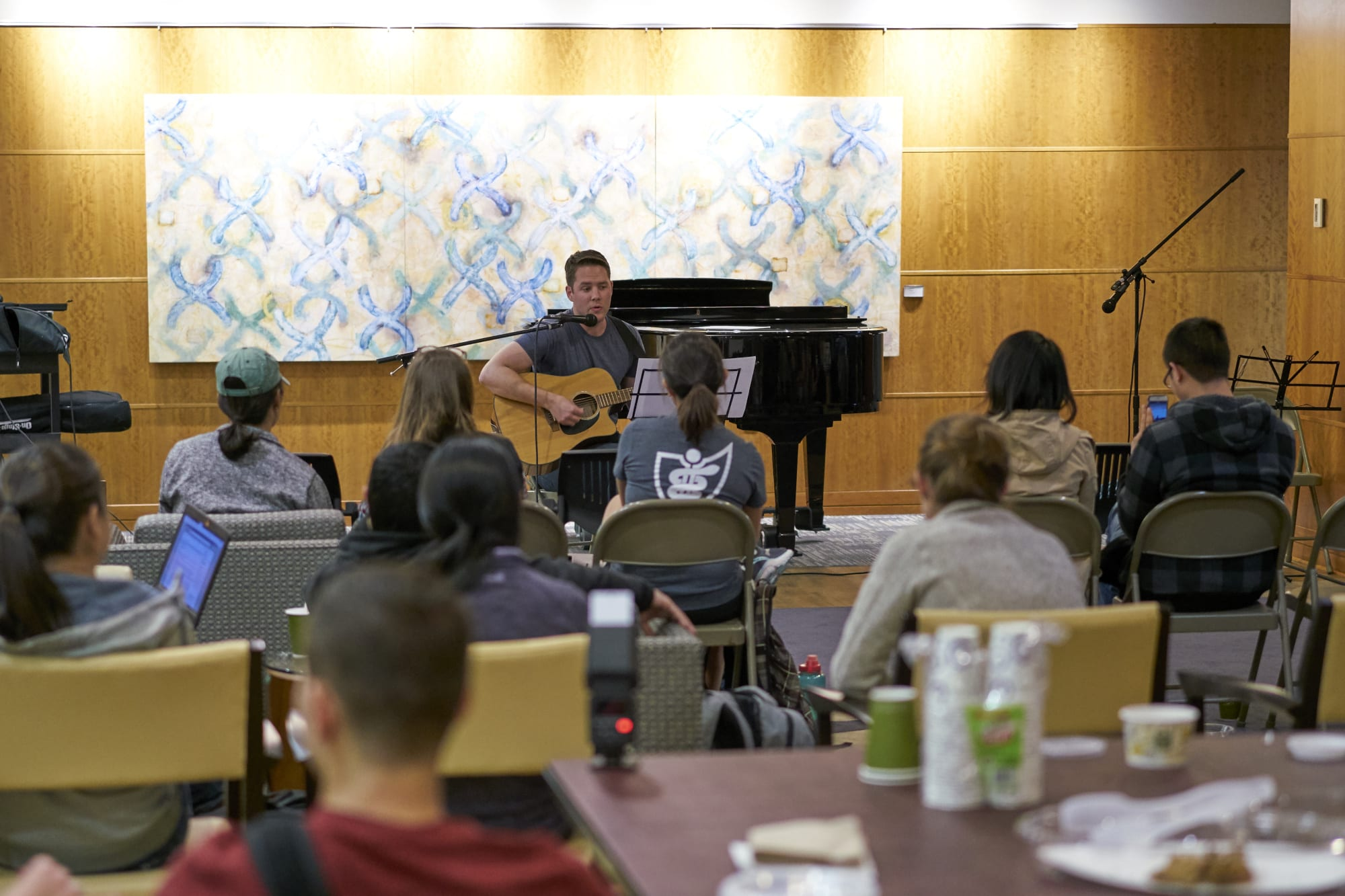 Students performing at the Fall 2018 Coffeehouse Concert