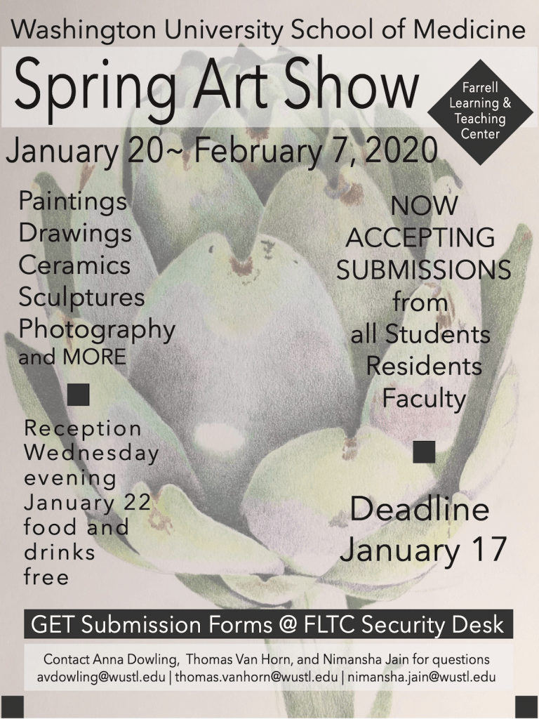 Poster advertising the 2020 Art Show