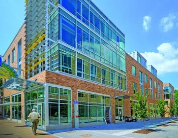 The Washington University Lofts on the Delmar Loop. James Byard/ WUSTL Photos