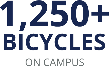 More than 1,250 bicycles on campus
