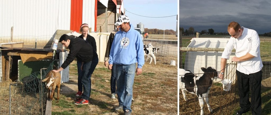 Students and Dining Services employees visit Windcrest Dairy