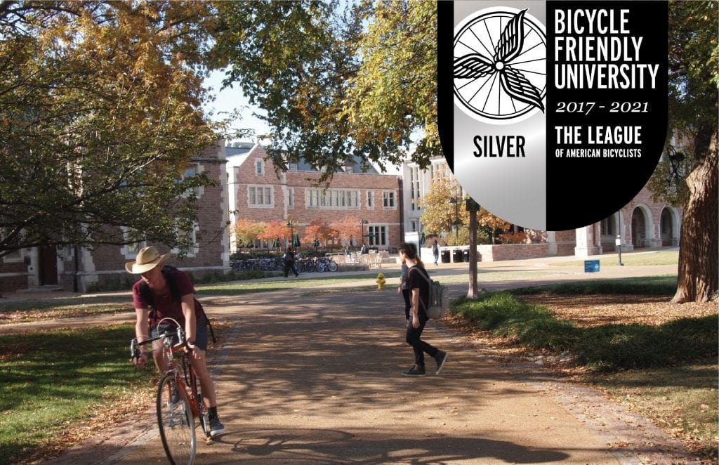 WashU named a Silver Bicycle Friendly University