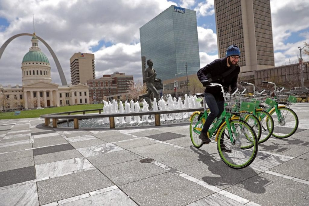 Dockless Bike Share Programs Launch in St. Louis