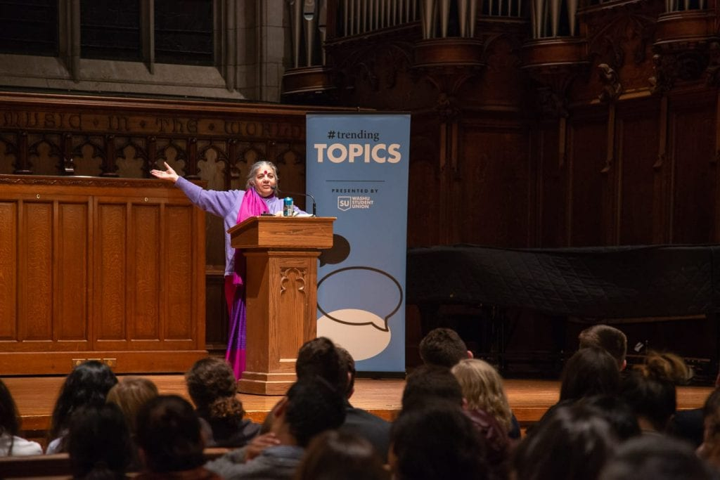 """Students Explore """"Earth Democracy"""" with Vandana Shiva"""