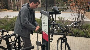 Bike Repair Stations Upgraded on the Danforth Campus